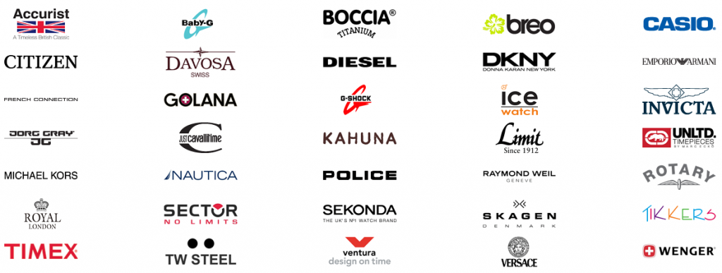 Brand Watches List